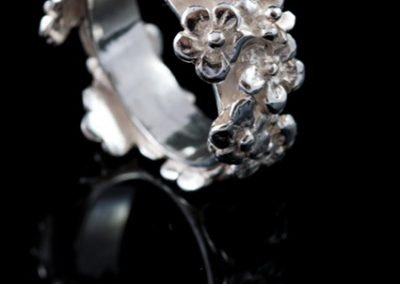 'Flowers and Flowers' Silver Ring