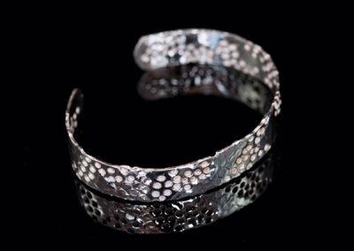 'Snakeskin' Silver Bangle
