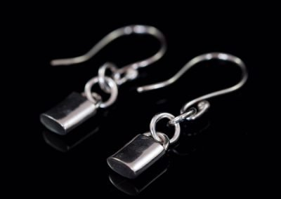 'Silver Padlock' Earrings