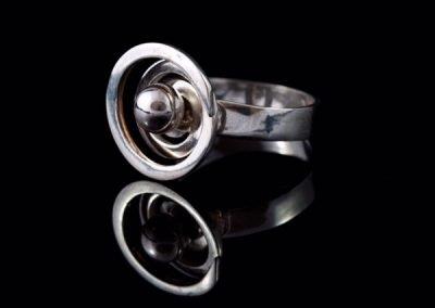 'Silver Swirl' Ring